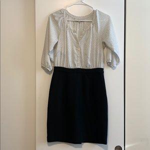 Loft one piece blouson and skirt dress